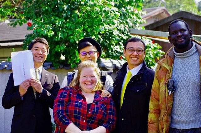 みんなが笑顔になれるまち。節分祭がつないでくれた素敵なご縁に感謝です。#白鳥神社#節分#節分祭#市長#議員#ワールド#スマイル#笑顔#世界は丸い#こう見えて #東かがわ市 #市議会議員 #山口大輔